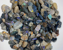 630CTs Dark Rough Nobby Opals with Colours to Gamble