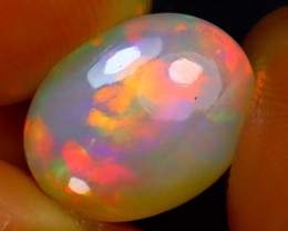 Welo Opal 4.97Ct Natural Ethiopian Play of Color Opal J2513/A44