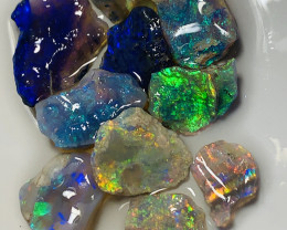 BRIGHT ROUGH OPALS TO CUT- 21 CTS #681