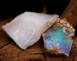 Welo Rough 22.63Ct Natural Ethiopian Play Of Color Rough Opal F2201