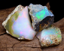 Welo Rough 15.01Ct Natural Ethiopian Play Of Color Rough Opal F2202