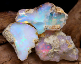 Welo Rough 22.32Ct Natural Ethiopian Play Of Color Rough Opal F2203