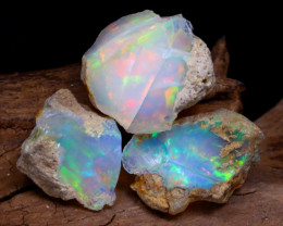 Welo Rough 15.80Ct Natural Ethiopian Play Of Color Rough Opal F2204