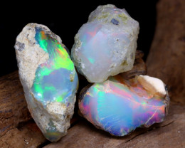 Welo Rough 14.89Ct Natural Ethiopian Play Of Color Rough Opal F2206
