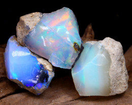 Welo Rough 15.41Ct Natural Ethiopian Play Of Color Rough Opal F2207