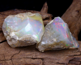 Welo Rough 19.84Ct Natural Ethiopian Play Of Color Rough Opal F2210
