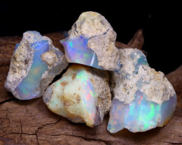 Welo Rough 20.56Ct Natural Ethiopian Play Of Color Rough Opal F2211