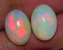 7.635 CRT GORGEUS PAIRS BROADFLASH FIRE PLAY COLOR WELO OPAL*