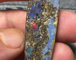 63.26 cts - Koroit boulder opal stone, cabochon