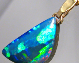 Australian Opal Doublet Pendant 3.65ct 14k Necklace Gift C79