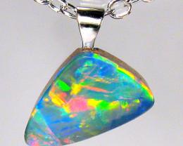 Australian Opal Pendant Solid Sterling Silver 2.15ct