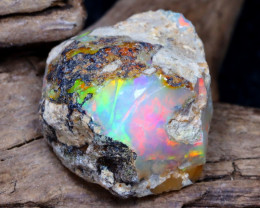 Welo Rough 11.23Ct Natural Ethiopian Play Of Color Rough Opal DT0090