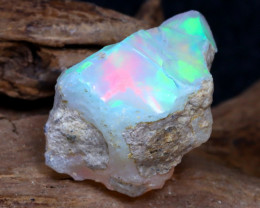 Welo Rough 6.96Ct Natural Ethiopian Play Of Color Rough Opal DT0091