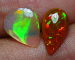 2.335 CRT BRILLIANT PAIRS ROLLINGFLASH PACTHWORK FLORAL WELO OPAL*