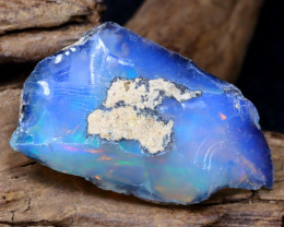 Welo Rough 10.17Ct Natural Ethiopian Play Of Color Rough Opal DT0098