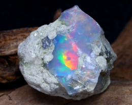 Welo Rough 8.60Ct Natural Ethiopian Play Of Color Rough Opal DT0110