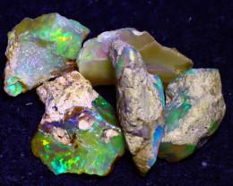 22.30Ct Multi Color Play Ethiopian Welo Opal Rough JN147/R2