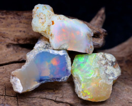 Welo Rough 15.83Ct Natural Ethiopian Play Of Color Rough Opal E2406