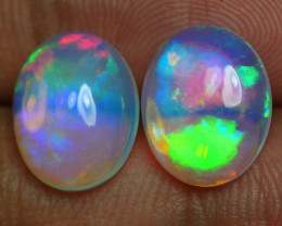 4.160 CRT WONDERFULL PAIRS BROADFLASH NEON BEAUTIFUL COLOR WELO OPAL*