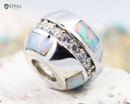 Fire Opal Bracelet Charm - CH311