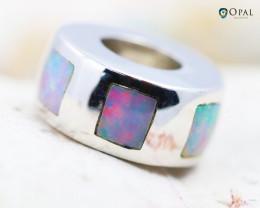 Fire Opal Bracelet Charm - CH312