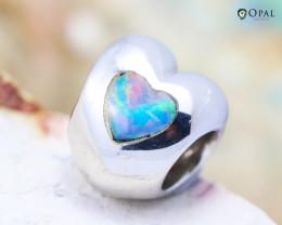 Fire Opal Bracelet Charm - CH314