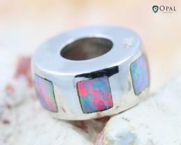 Fire Opal Bracelet Charm - CH315