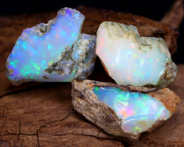 Welo Rough 12.13Ct Natural Ethiopian Play Of Color Rough Opal F2502