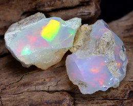 Welo Rough 10.77Ct Natural Ethiopian Play Of Color Rough Opal F2504