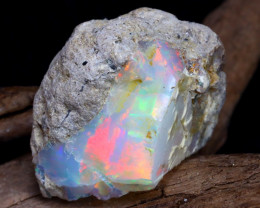 Welo Rough 33.86Ct Natural Ethiopian Play Of Color Rough Opal DT0112A