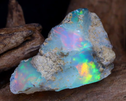 Welo Rough 7.58Ct Natural Ethiopian Play Of Color Rough Opal DT0122