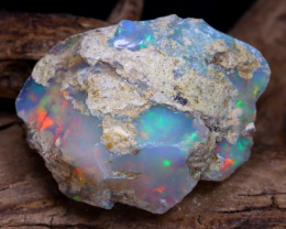 Welo Rough 20.75Ct Natural Ethiopian Play Of Color Rough Opal DT0125