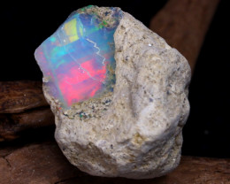 Welo Rough 31.70Ct Natural Ethiopian Play Of Color Rough Opal DT0126
