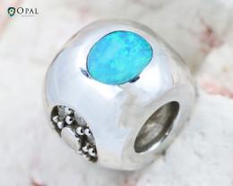 Fire Opal Bracelet Charm - CH316