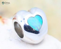 Fire Opal Bracelet Charm - CH317