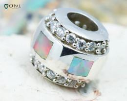 Fire Opal Bracelet Charm - CH318