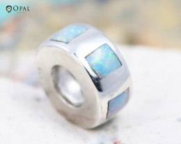 Fire Opal Bracelet Charm - CH319