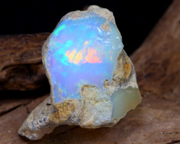 Welo Rough 13.23Ct Natural Ethiopian Play Of Color Rough Opal DT0133