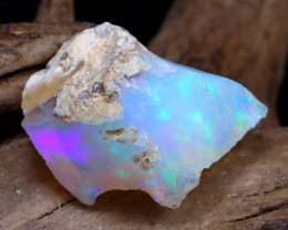Welo Rough 8.73Ct Natural Ethiopian Play Of Color Rough Opal DT0137