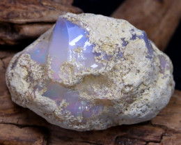 Welo Rough 31.01Ct Natural Ethiopian Play Of Color Rough Opal F2601