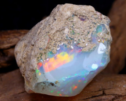 Welo Rough 31.03Ct Natural Ethiopian Play Of Color Rough Opal DT0155