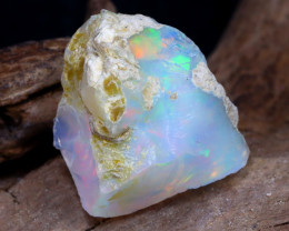 Welo Rough 6.21Ct Natural Ethiopian Play Of Color Rough Opal DT0162