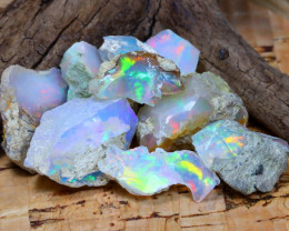 Welo Rough 50.57Ct Natural Ethiopian Play Of Color Rough Opal D2704