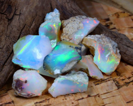 Welo Rough 47.54Ct Natural Ethiopian Play Of Color Rough Opal D2707