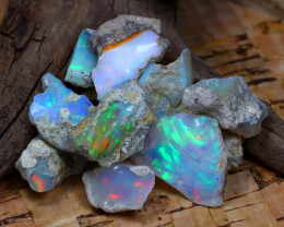 Welo Rough 54.28Ct Natural Ethiopian Play Of Color Rough Opal D2708