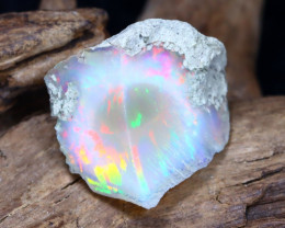 Welo Rough 8.19Ct Natural Ethiopian Play Of Color Rough Opal F2808
