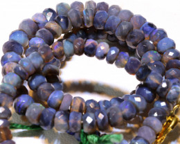 67.40 CTS  L RIDGE BLACK  OPAL FACETED BEADS STRAND TBO-A1326