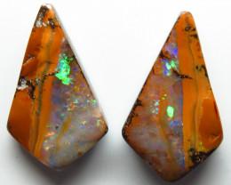 16.52ct Queensland Boulder Opal Pair Stone