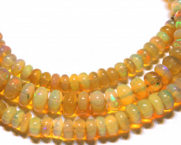 47CTS   ETHIOPIAN OPAL BEADS STRAND   FOB-2325
