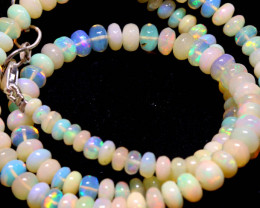 58 CTS   ETHIOPIAN OPAL BEADS STRAND   FOB-2328